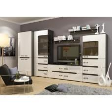 Гостиная (стенка) Виго МДФ белый глянец - магазин мебели Росмебельгрупп
