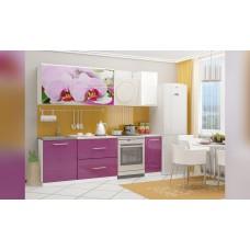 Кухня 1,8 МДФ фотопечать Орхидея 2