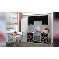 Кухня 1.6 МДФ фотопечать Маки 2