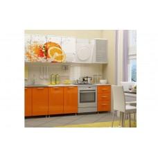 Кухня 2,0 ЛДСП фотопечать Апельсин