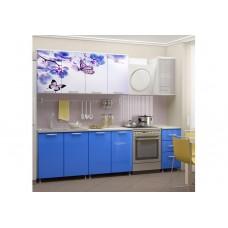 Кухня 2,0 ЛДСП фотопечать Бабочки