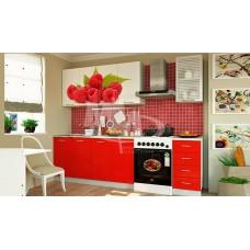 Кухня 2,0 ЛДСП фотопечать Малина
