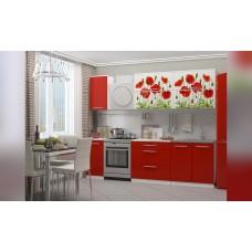 Кухня 2,0 МДФ фотопечать Маки