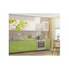 Кухня 2,0 МДФ фотопечать Яблоневый цвет