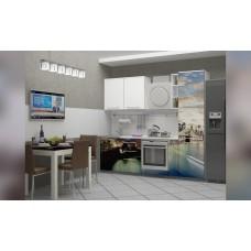 Кухня 2,3 МДФ фотопечать Город 7