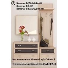 Модульная прихожая Камелия 2 - магазин мебели Росмебельгрупп
